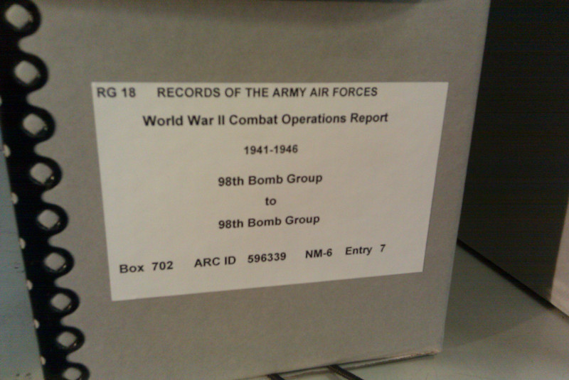Each month of mission reports is stored in a box like this.