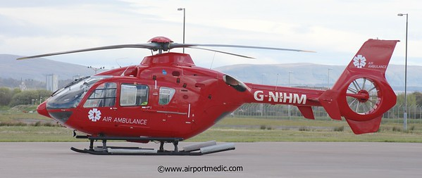 G-NIHM EC135 Northen Ierland Air Ambulance @ Glasgow Airport (EGPF)