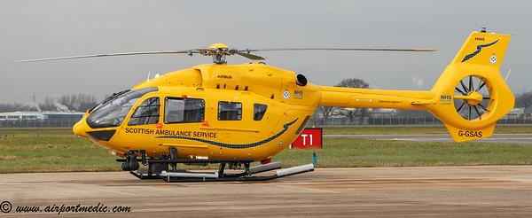 G-GASS EC145 Scottish Air Ambulance @ Glasgow Airport (EGPF)