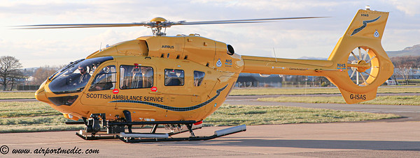 G-IASS EC145 Scottish Air Ambulance @ Glasgow Airport (EGPF)