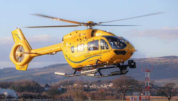 G-IASS EC145 Scottish Air Ambulance @ Glasgow Airport (EGPF)