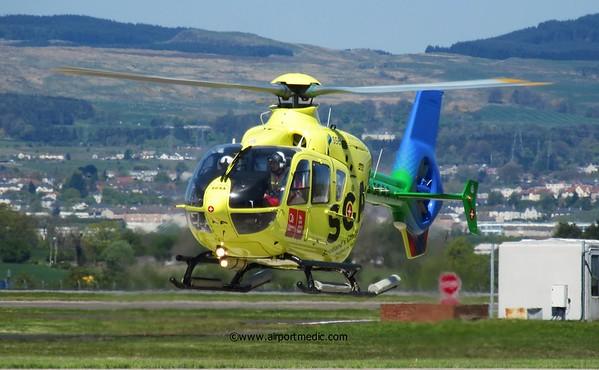 G-SCAA EC135 Scotland's Charity Air Ambulance @ Glasgow Airport (EGPF)