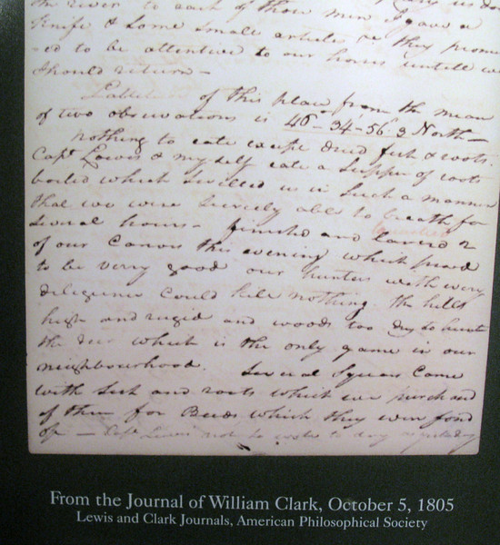 Copy of Clark's journal writings.