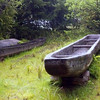Replica of a dugout canoe probably like those built and used down the Clearwater, Snake and Columbia River.