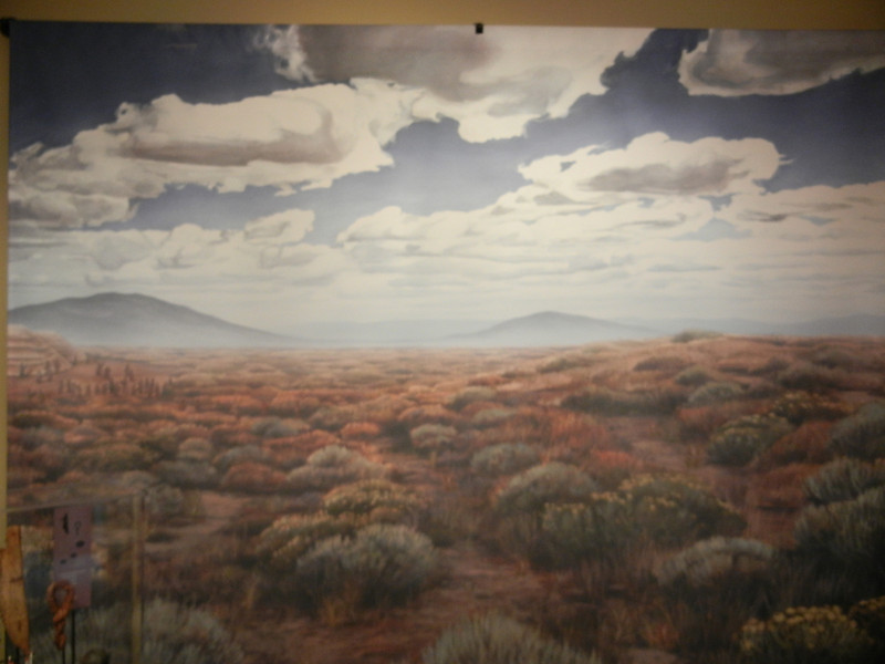 This is a painting of the prairie on the northside of the Columbia River, across Washington.