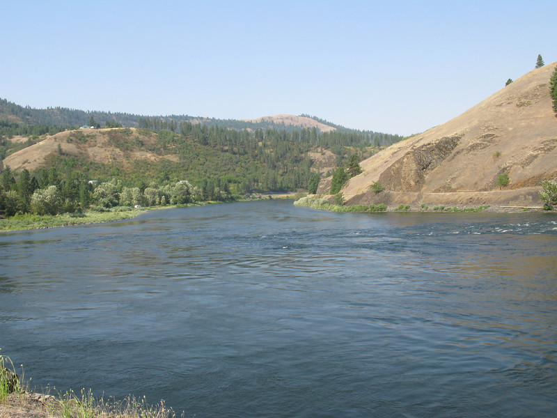 "Down the Clearwater and into the Snake River Clark wrote in his journal of their hazardous experience in an ""eddy"".  Several of the dugouts almost tipped over traveling through these swift circular water currents.  This ""eddy"" is still there today."