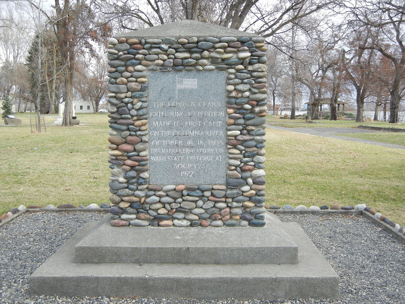 The official marker of the Sacajawea State Park.