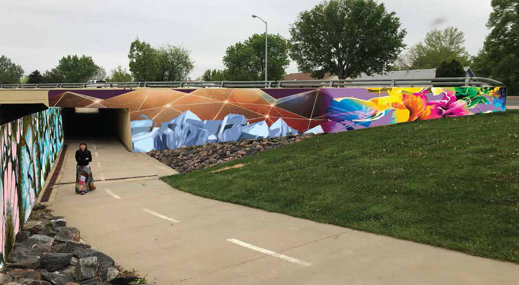 . Lopez proposed mural location on the underpass of 9th Avenue and Alpine Street in Longmont.  (Courtesy City of Longmont)