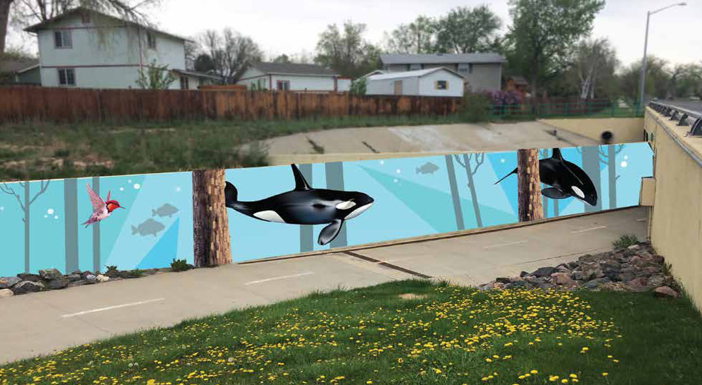 . Maxcy proposed mural location on the underpass of 9th Avenue and Alpine Street in Longmont.  (Courtesy City of Longmont)