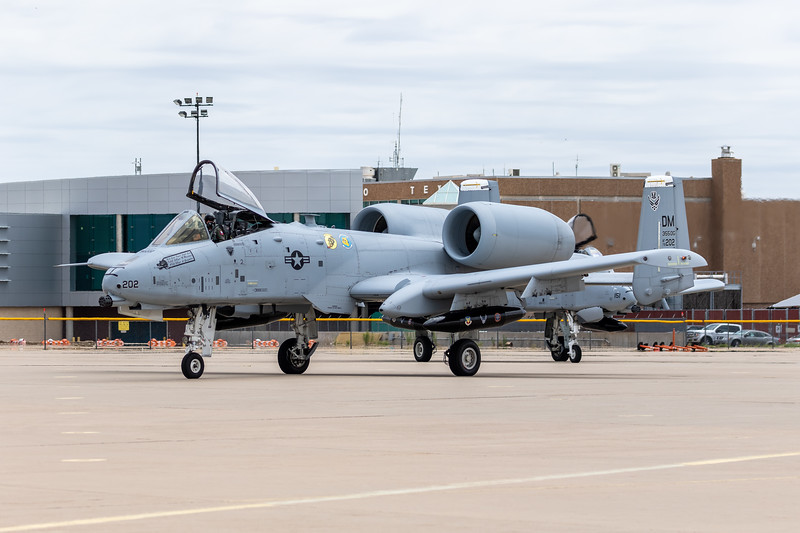 -(Aircraft)  Fairchild Republic A-10C Thunderbolt II<br /> -(Nation & Service) United States Air Force<br /> -(Squadron) 355th Operations Group (357/354th Fighter Squadron)<br /> -(Home Base) Davis–Monthan Air Force Base, Arizona<br /> <br /> *Note: Flying as part of the 2018 A-10 Demo Team