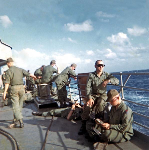 On Deck Of USNS Gorden