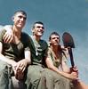 Bobbie Haff, Vern Shumway, David Anderson at Carentan