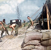 Rick Paul, Lloyd Burkhart, Filling Sandbags at Carentan