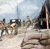 Rick Paul, Lloyd Burkhart, Filling Sandbags at Carentan