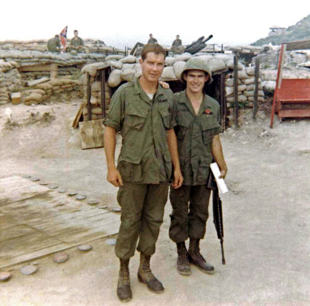 Gary Lowery, Vern Shumway After Receiving Bronze Star on LZ Liz