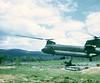 Chinook Placing Gun at Na Thant Special Forces Camp