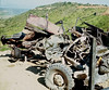 3/4 ton Destroyed by a Mine on Liz Access Road