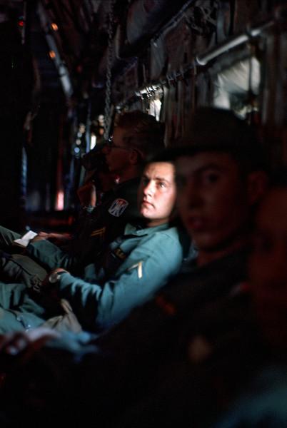 Mast, Bice, Robertson on C-130 to Big Island
