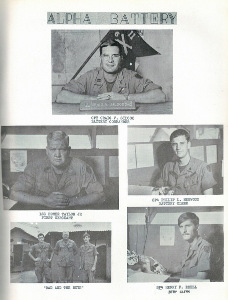 A Battery 1970 Yearbook