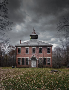 this rural Virginia schoolhouse now offers nothing more than memories