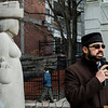 Ijaz Ahmed, President of the Fitchburg Chapter of the Ahmadiyya Muslim Community, speaks during a press conference to condemn the Trump administration executive orders against immigrants and refugees on Friday, February 3, 2017 in downtown Fitchburg. Residents and local leaders gathered to call on allies to support the Safe Communities Act, an act that would ensure local police resources for fighting crime, not enforcing federal immigration law and pledge no state support for a Muslim registry. SENTINEL & ENTERPRISE / Ashley Green