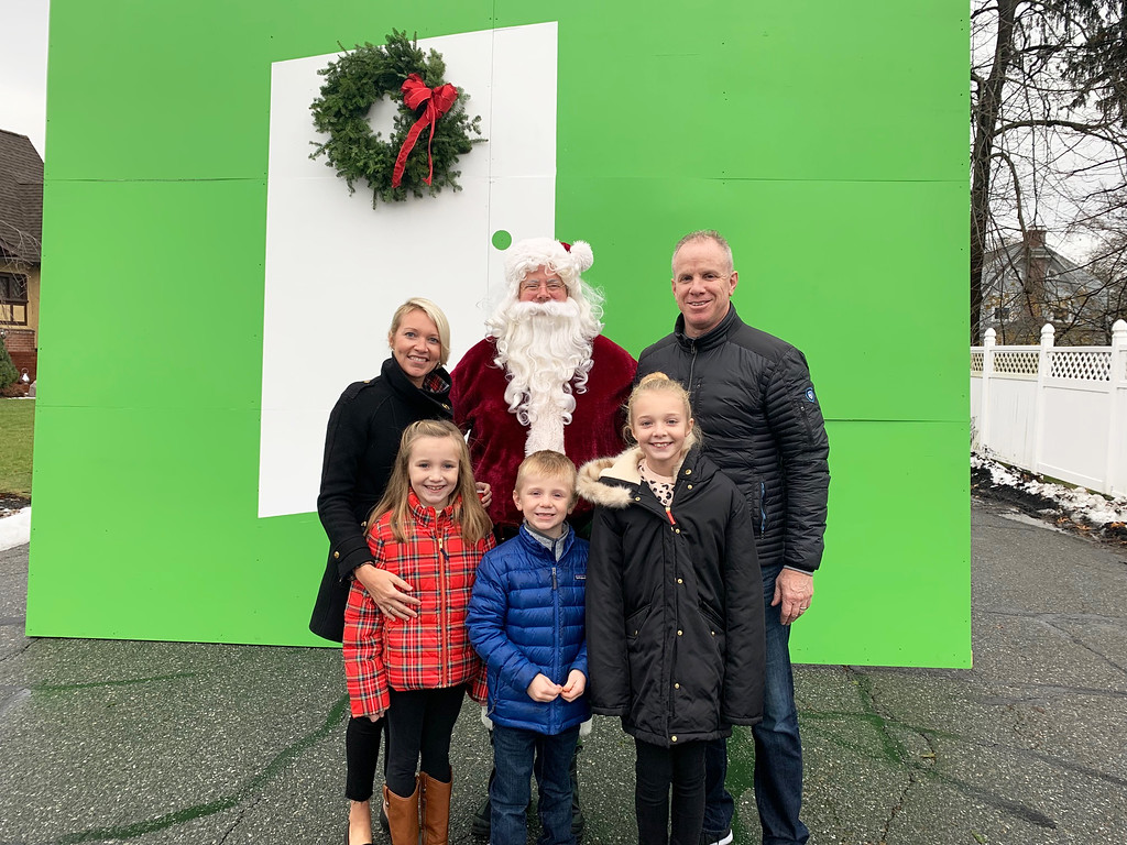 . The Galvin family of Lowell with Santa