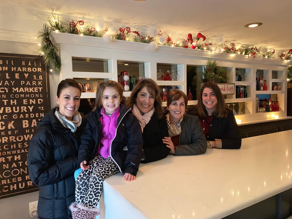 . Lovely ladies enjoy the James & Edith Leighton House�s beautiful Christmas decorations. From left are Sotiria Szarek and the adorable Nicolette of Dracut, Voula Danas and Donna Christopoulos, both of Andover, and Julie Grillakis of Lowell.