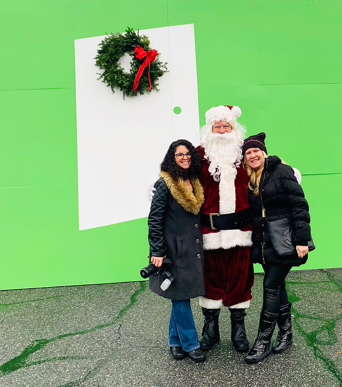 . From left, Jen Myers of Dracut, Santa of the North Pole and yours truly