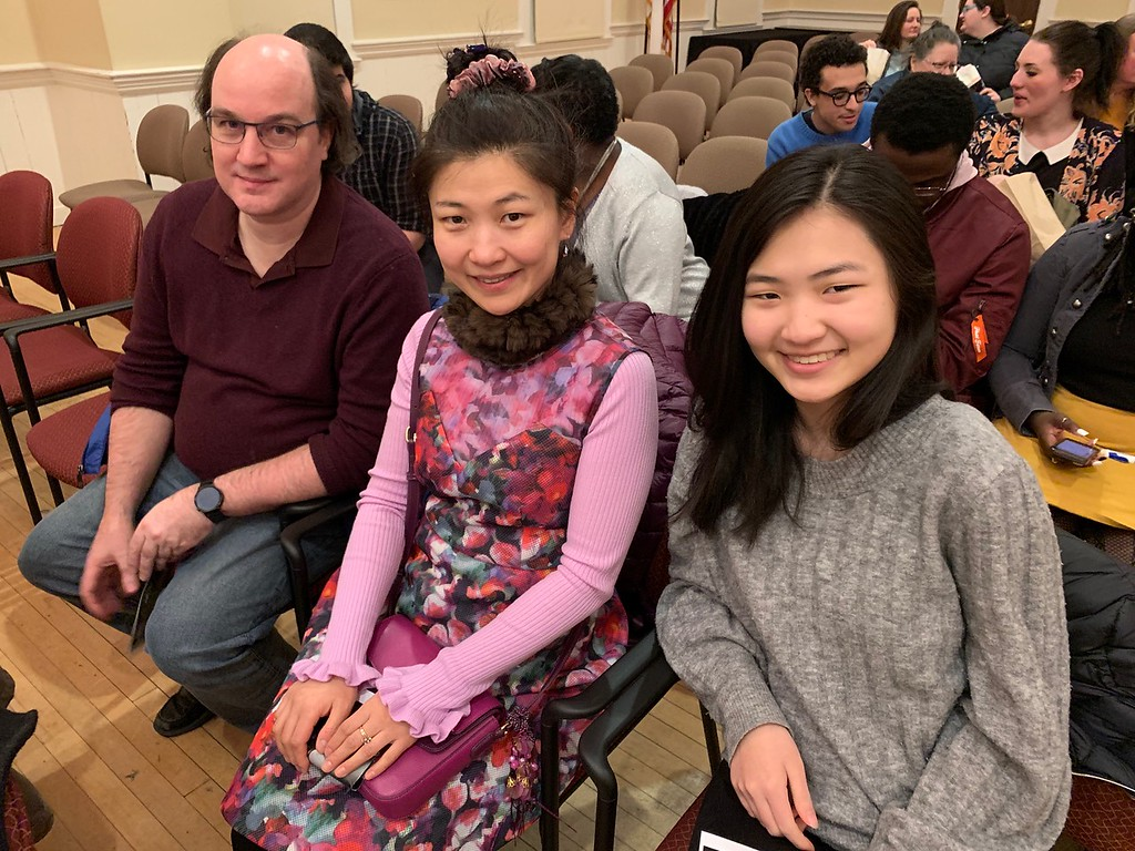 . From left, Jeff Cook, Fay Liao and Fiona Huang, all of Chelmsford