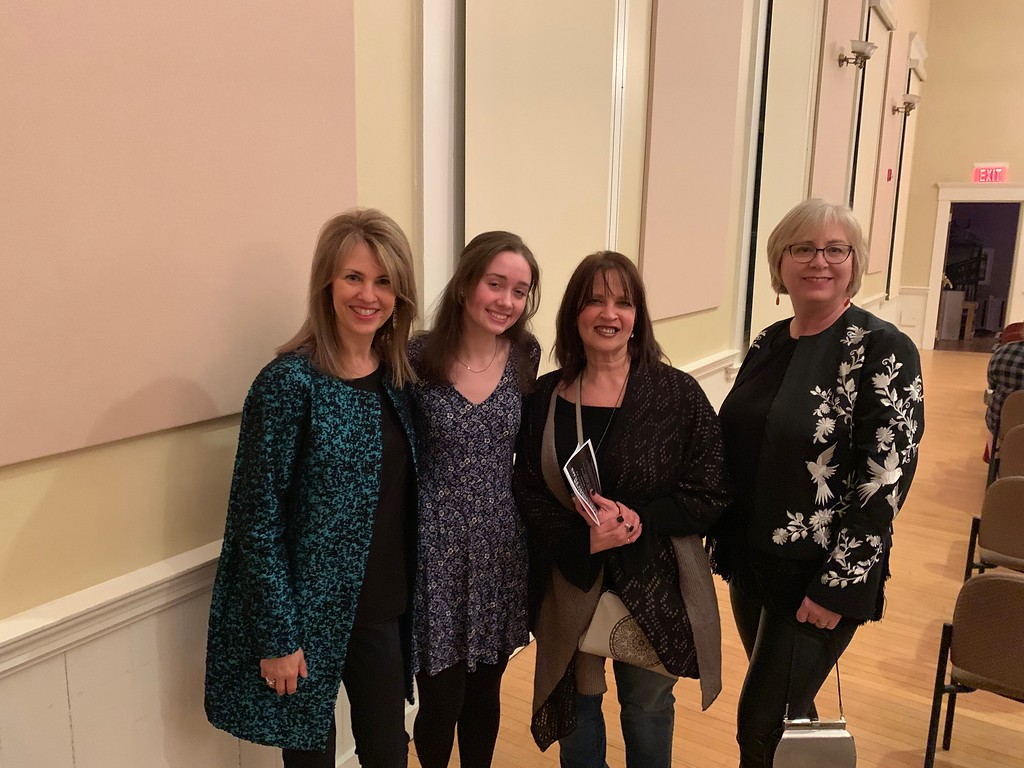 . On hand to support the film �Uncommon Threads� are, from left, Susan Kanoff of Methuen, founder and executive director of Uncommon Threads of Lawrence, film director Juliana Lugg of Andover, Cathy Sullivan of Haverhill and Eileen Kelly of North. Andover.