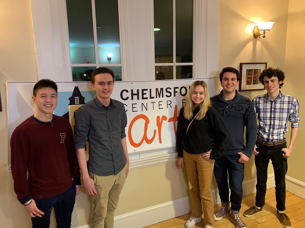 . Winners for Best Film 12 Minutes and Over, �Love Thy Neighbor,� from left, Nate Lichauco and director Aidan Hamell, both of Belmont, Piper Verbrick of New York, Ben Crocker of London and Nick Borelli of Belmont