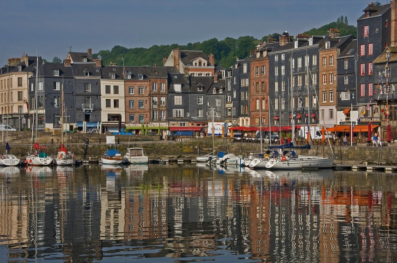 Reflections in Honfleur Harbour