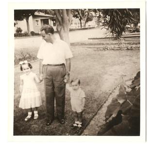 Manuel, Augusto e filhos Elza e Jome'