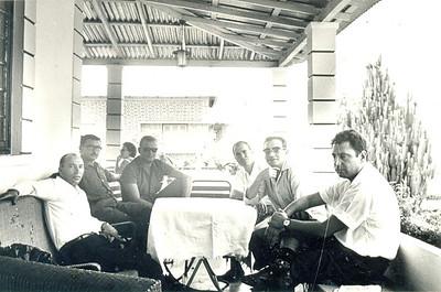 Quintas; Portela; Teodósio (  Maria de Fátima esposa, atrás); Acácio Jorge; Zé Cardoso e Manuel Teixeira