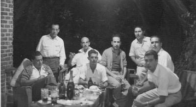 António Reis, Viriato, ----,Fernando Pontão, Silva Neves,Aires Marques, Orlando Moreira e Azevedo (da Barragem)