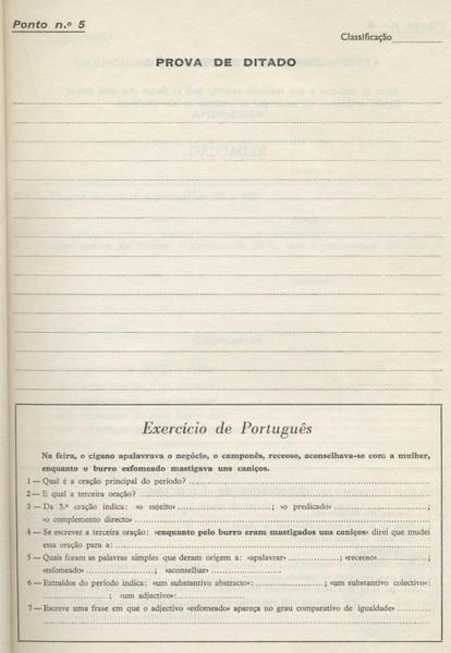 Prova de Ditado e Portugues