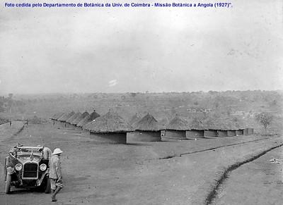 1927- Luaco- Um dos aldeamentos construidos pela Diamang para os seus trabalhadores