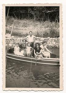 Cachimo,  Sr. Guerreiro + a D. Deolinda Guerreiro com o filho Xize' ao colo, Familia Sobral