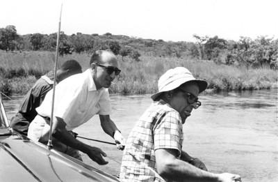 1962, Rio Luele, jangada Dr. Rocha Afonso e Dr. David Bernardino