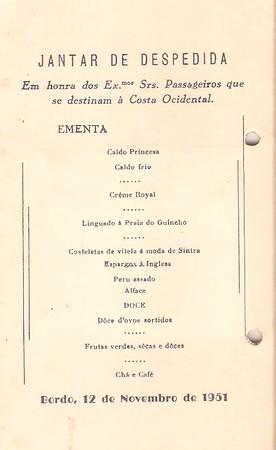 Imperio - Jantar de Despedida 1951