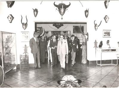 Visita do Governador Geral de Angola, Viegas, Soares Carneiro, Fontinha,  Gov. Santos e Castro.