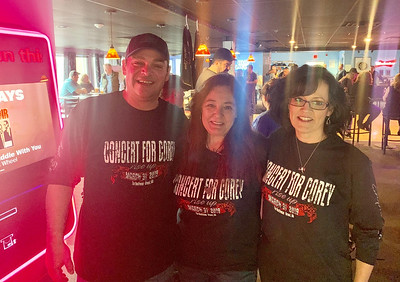 Corey's angels, from left, Devin Cordeiro of Dracut, Bea Dery of Hudson and Lisa Catalano of Derry