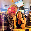 Chuck Rine and fiancée, Boathouse beauty Kristine Pitts, both of Lowell