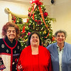 From left, Tea Chairwoman Connie Gkolias with her sisters, Clara and Freda, all of Tewksbury