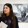 """Marketing Manager Kledia Spiro discusses the Fitchburg Art Museum opening reception for """"A Curious Nature: Paintings by Shelley Reid"""", which will be held on Sunday, February 12th from 1-3 p.m. SENTINEL & ENTERPRISE / Ashley Green"""