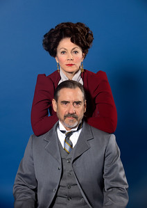 Kate Hampton and David Breitbarth in Asolo Rep's production of A DOLL'S HOUSE, PART 2. Photo by John Revisky.