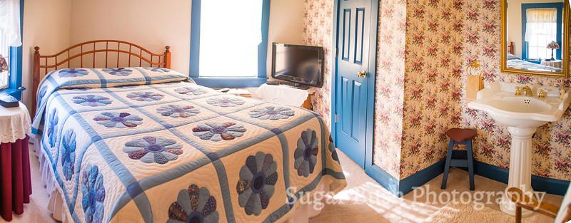 Blue Quilt Room Panorama