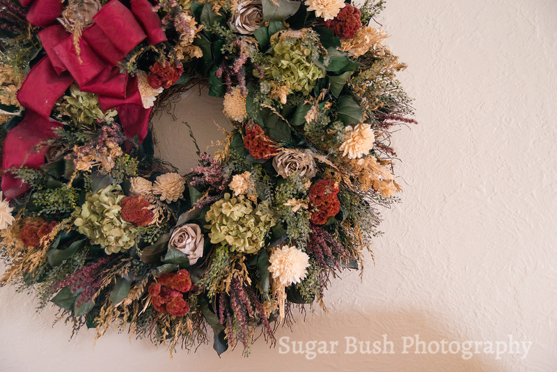 White Quilt Room Wreath