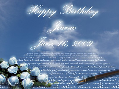 E-card to Jeanie - Social Networking