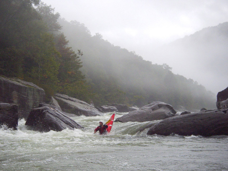 Mike playing at Tumble Home. Upper Gauley, WV